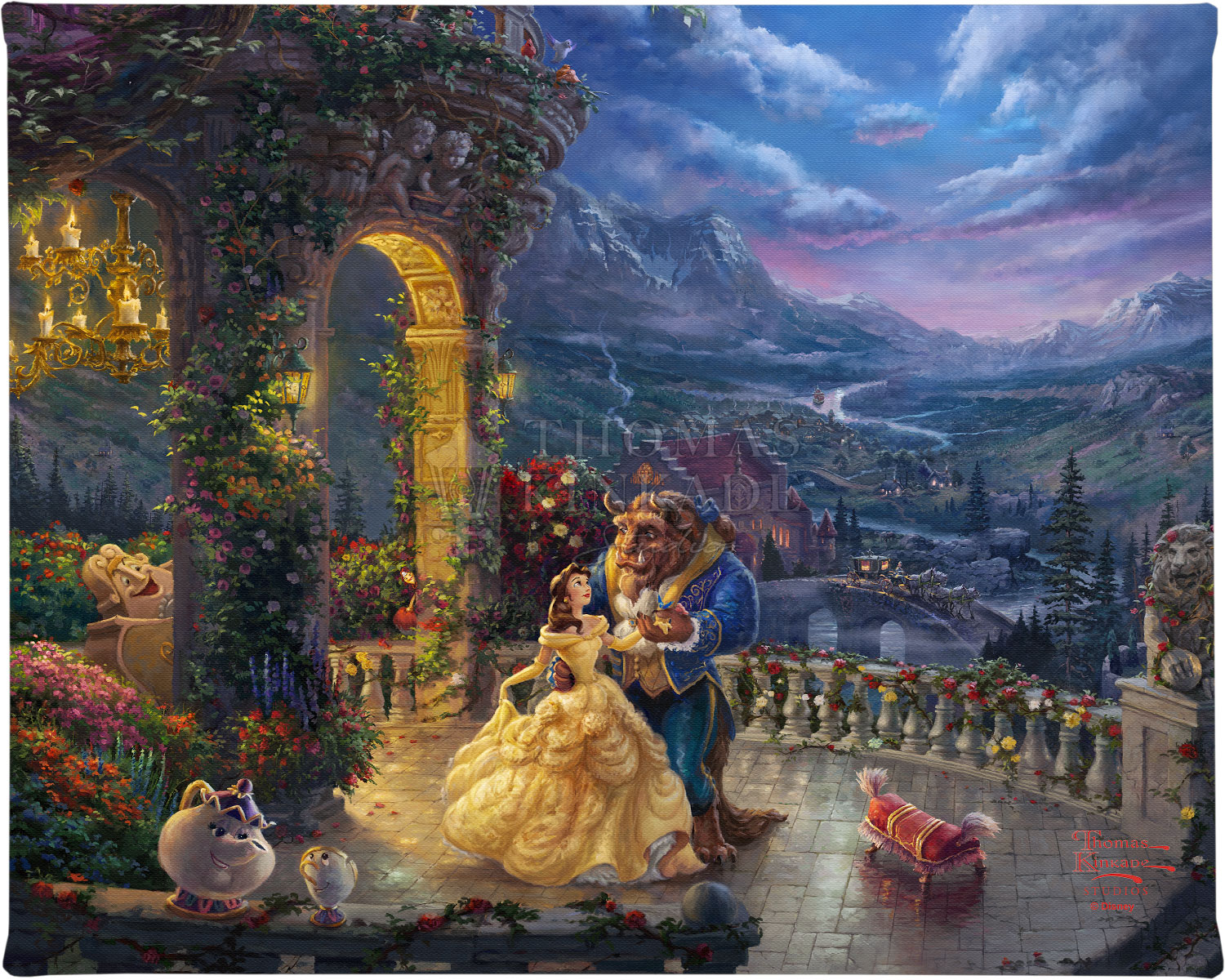 Beauty And The Beast Dancing In The Moonlight 8 X 10
