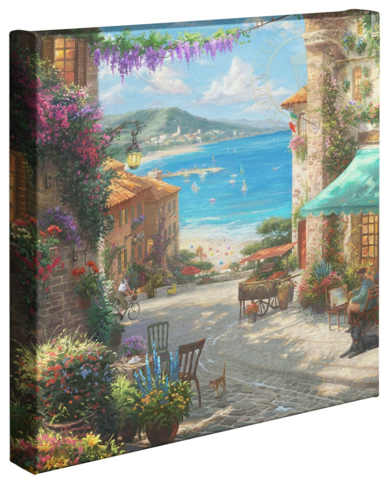 Italian Cafe 14″x14″ Gallery Wrapped Canvas