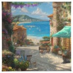 "Italian Cafe 14""x14"" Gallery Wrapped Canvas"