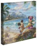 Mickey and Minnie in Hawaii – 14″ x 14″