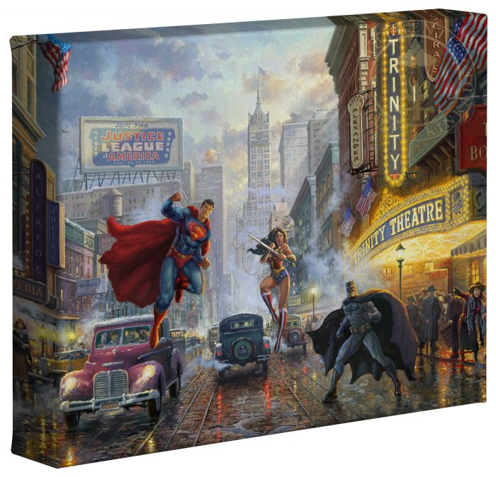 Batman, Superman, and Wonder Woman: The Trinity I  – 8″ x 10″ Gallery Wrapped Canvas