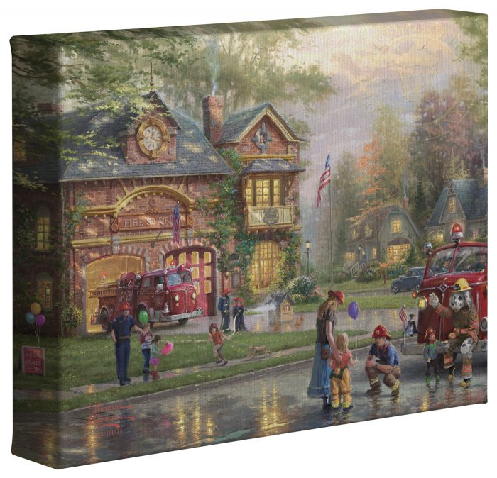 Hometown Firehouse – 8″ x 10″ Gallery Wrapped Canvas
