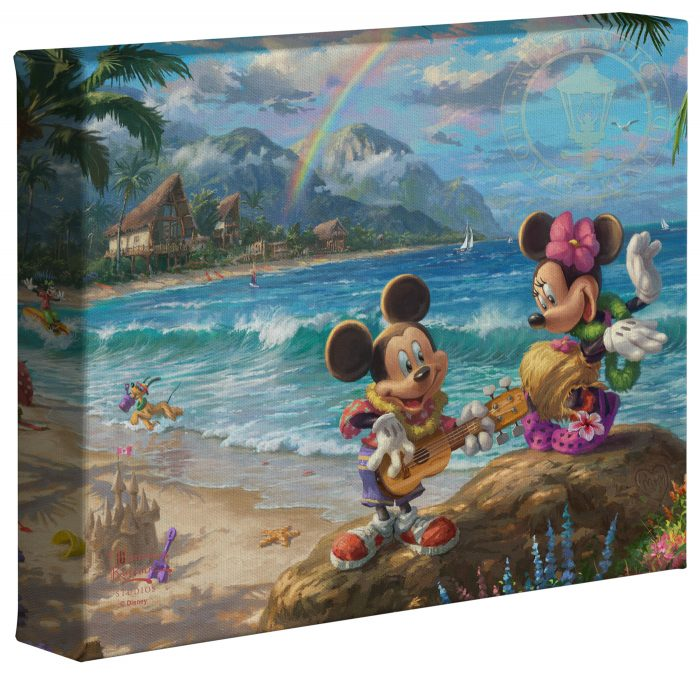 Mickey and Minnie in Hawaii – 8″ x 10″ Gallery Wrapped Canvas