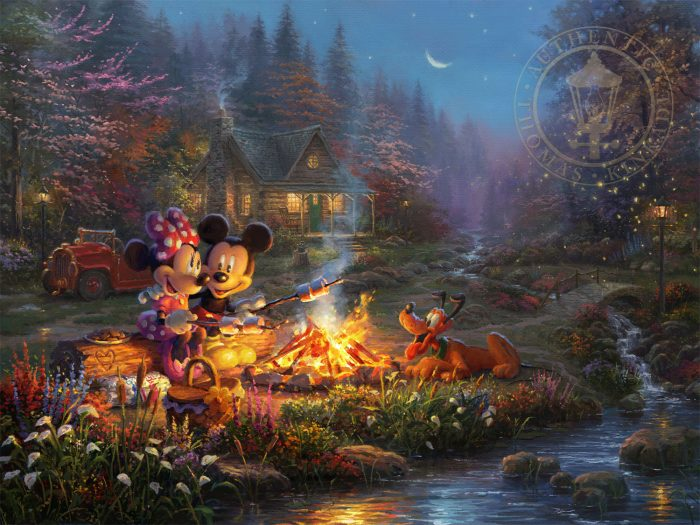 Mickey and Minnie Sweetheart Campfire – Limited Edition Canvas
