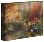 Mickey and Minnie – Sweetheart Central Park – 8″ x 10″ Gallery Wrapped Canvas