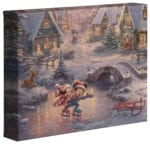 Mickey & Minnie Sweetheart Holiday  – 8″ x 10″ Gallery Wrapped Canvas