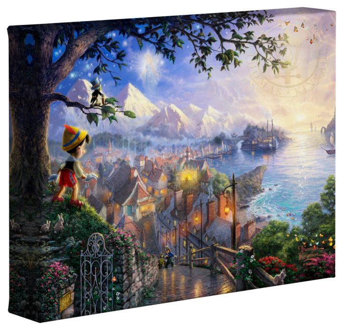 Pinocchio Wishes Upon a Star – 8″ x 10″ Gallery Wrapped Canvas
