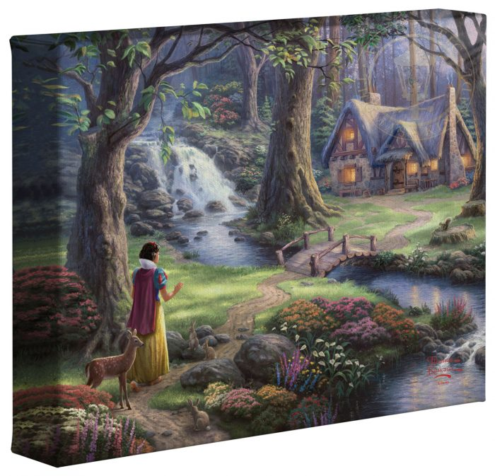 Snow White Discovers the Cottage – 8″ x 10″ Gallery Wrapped Canvas