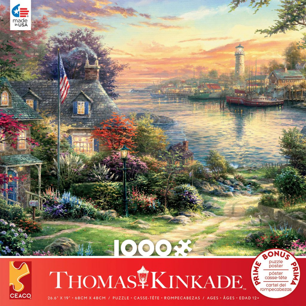 1000 Piece Puzzle featuring New England Harbor  from Ceaco