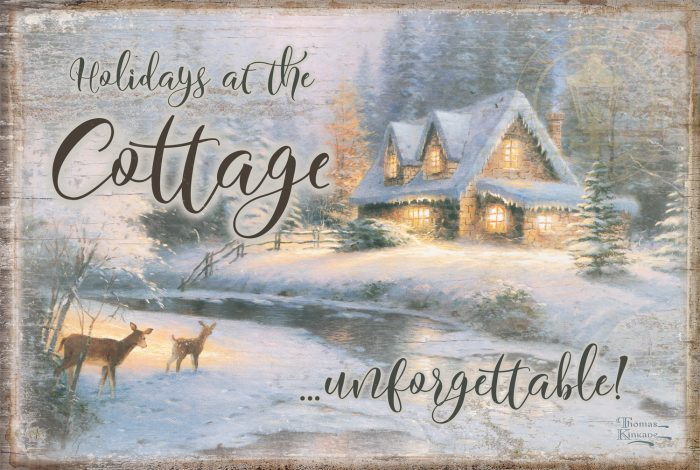 "Deer Creek Cottage – 12"" x 18"" Wood Sign"