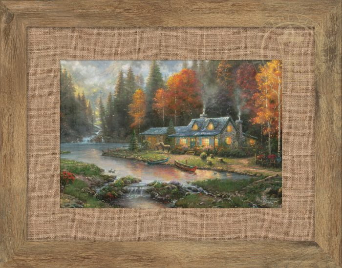 Evening at Autumn Lake – 10.5″ x 15.75″ Framed Print