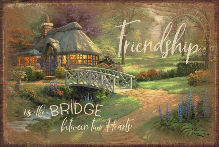 "Friendship Cottage – 12"" x 18"" Wood Sign"