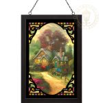 A New Day Dawning – 20″ x 14″ Stained Glass Art (Black Frame)