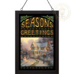 The Night Before Christmas – 20″ x 14″ Stained Glass Art (Black Frame)