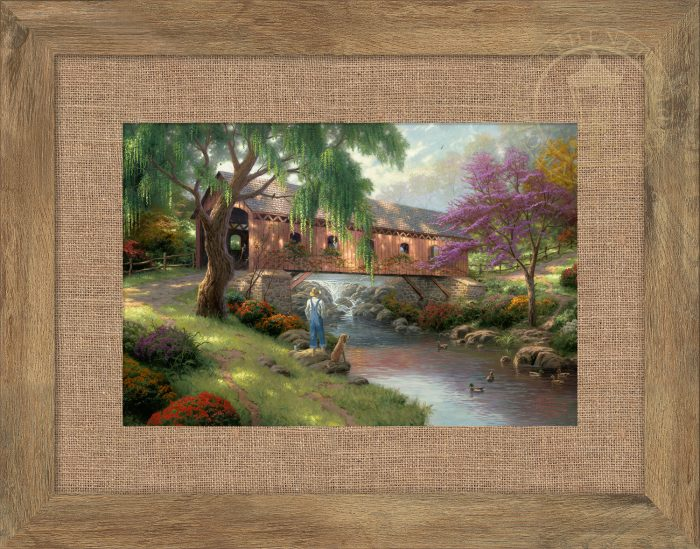 The Old Fishin' Hole – 10.5″ x 15.75″ Framed Print