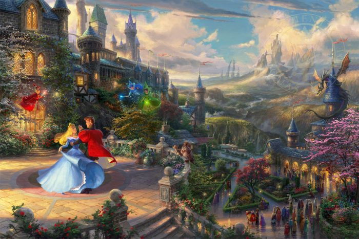 Disney Sleeping Beauty Dancing in the Enchanted Light – Limited Edition Canvas