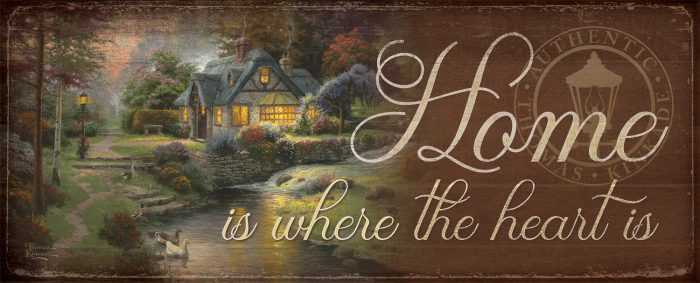 "Stillwater Cottage – 12"" x 30"" Wood Sign"