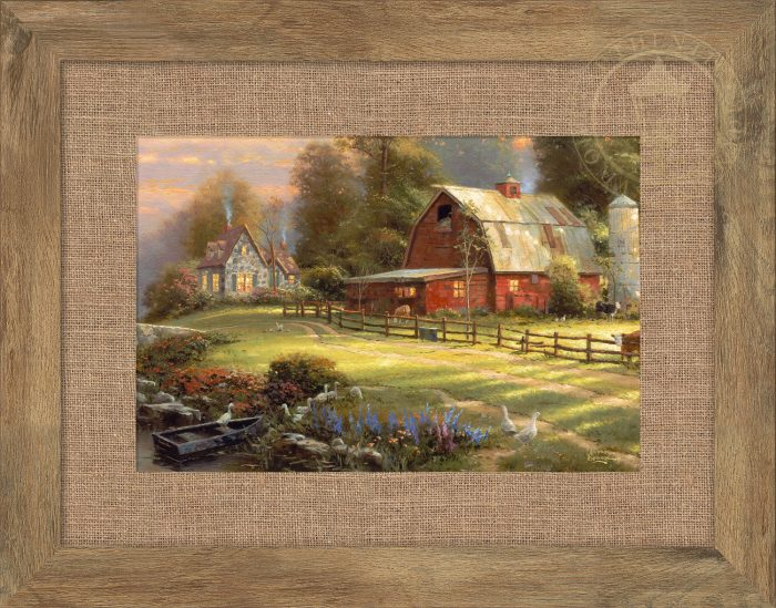 Sunset at Riverbend Farm – 10.5″ x 15.75″ Framed Print