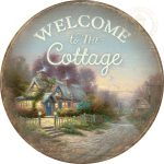 "Teacup Cottage – 21"" Wood Sign"