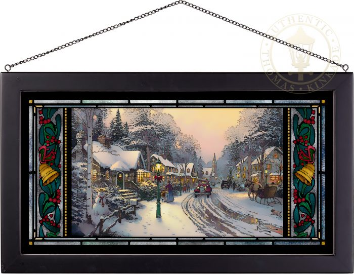 Village Christmas – 11.50″ x 21.25″ Stained Glass