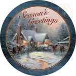 "Christmas Welcome – 21"" Wood Sign"