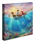 Disney Little Mermaid Falling in Love – 14″ x 14″ Gallery Wrapped Canvas
