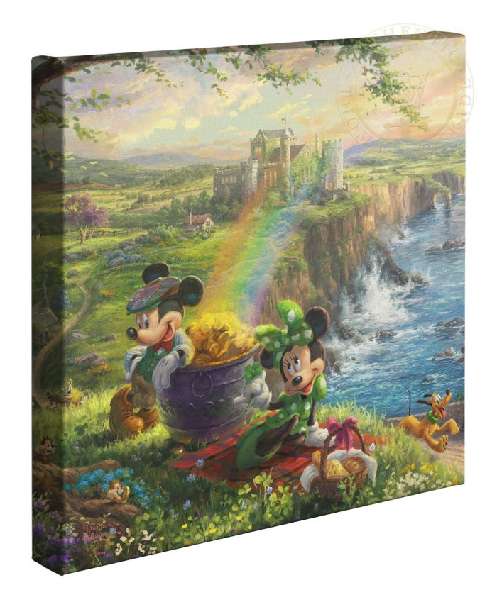 Mickey and Minnie in Ireland – 14″ x 14″ Gallery Wrapped Canvas