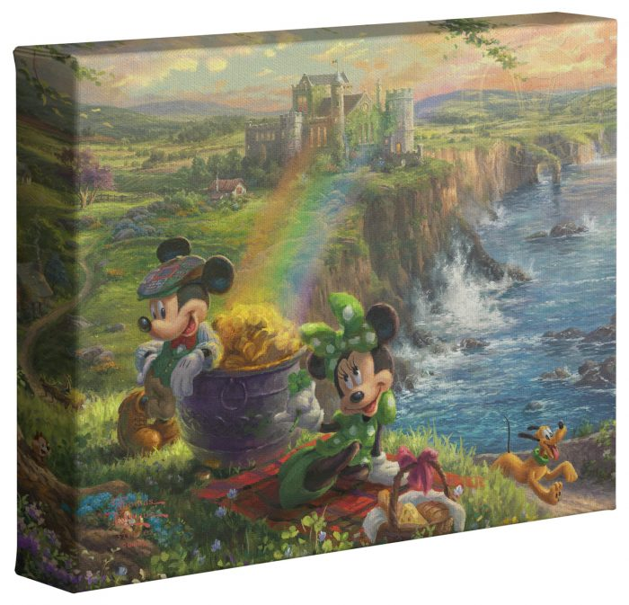 Mickey and Minnie in Ireland – 8″ x 10″ Gallery Wrapped Canvas