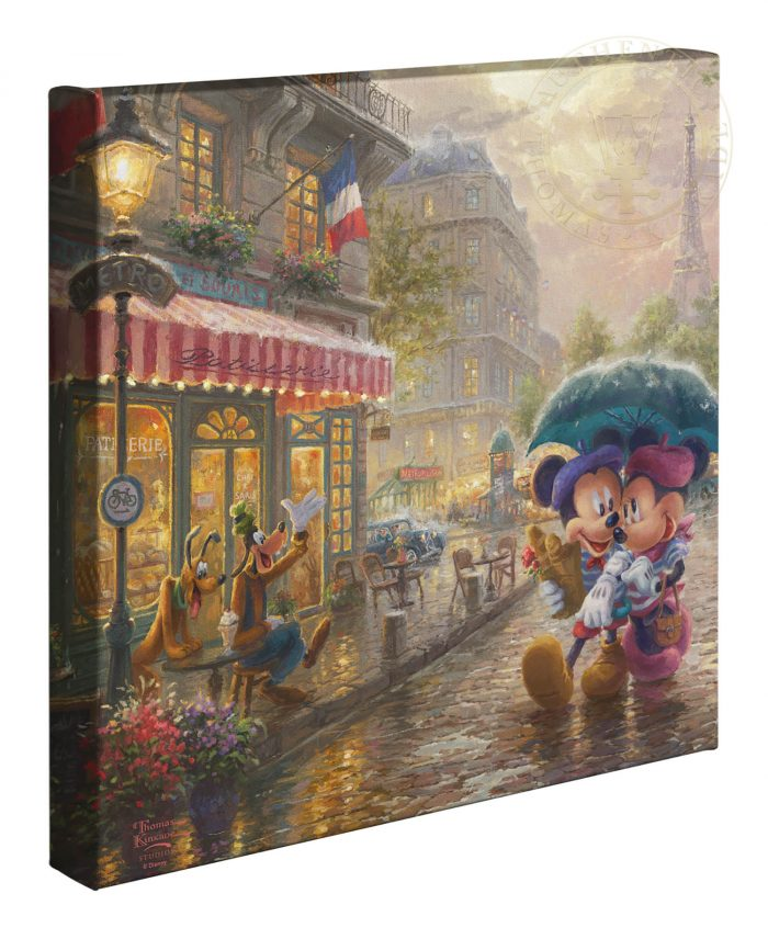 Mickey and Minnie in Paris – 14″ x 14″ Gallery Wrapped Canvas