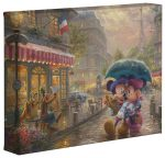 Mickey and Minnie in Paris – 8″ x 10″ Gallery Wrapped Canvas