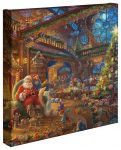 Santa's Workshop – 14″ x 14″ Gallery Wrapped Canvas