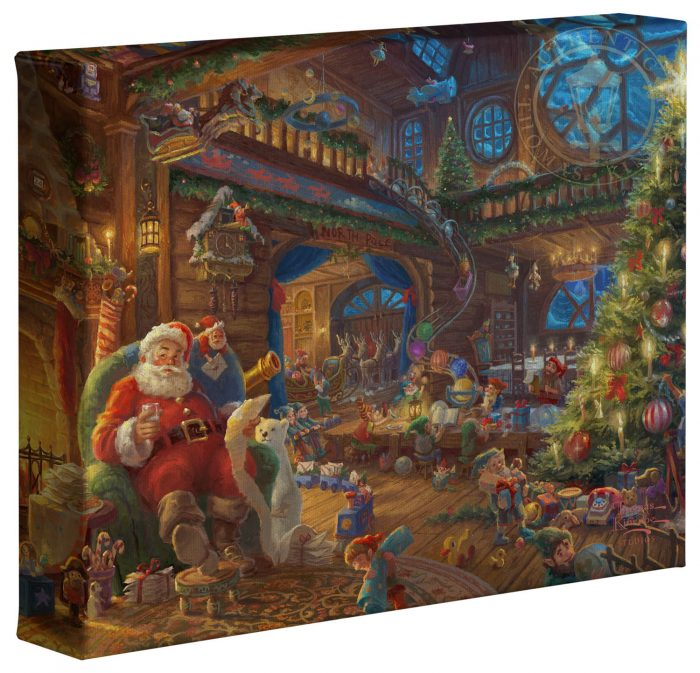 Santa's Workshop – 8″ x 10″ Gallery Wrapped Canvas
