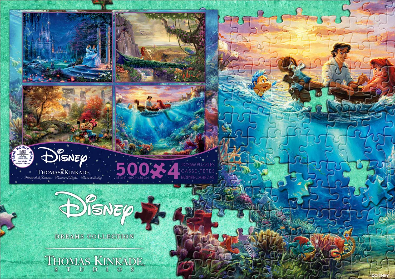 New 4-in-1 Disney Puzzle from Ceaco | Thomas Kinkade Studios