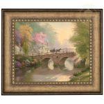 Hometown Bridge – 16″ x 20″ Brushstroke Vignette