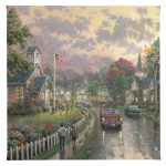 "Morning Pledge - 14"" x 14"" Canvas Gallery Wrap"
