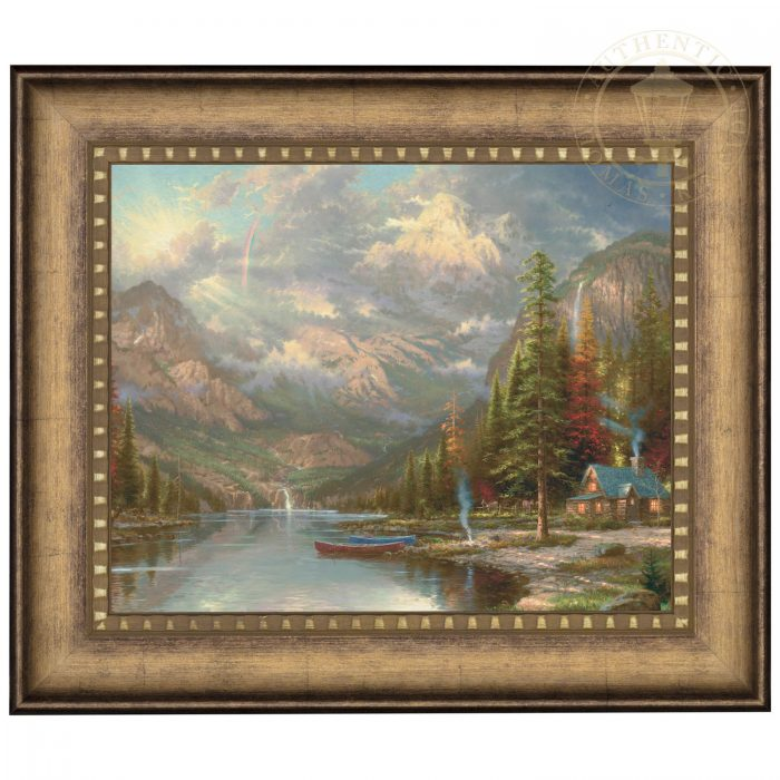 Mountain Majesty – 16″ x 20″ Brushstroke Vignette