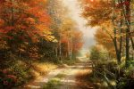 A Walk Down Autumn Lane – Limited Edition Canvas