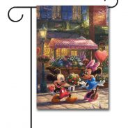 Mickey and Minnie Sweetheart Holiday Café Garden Flag