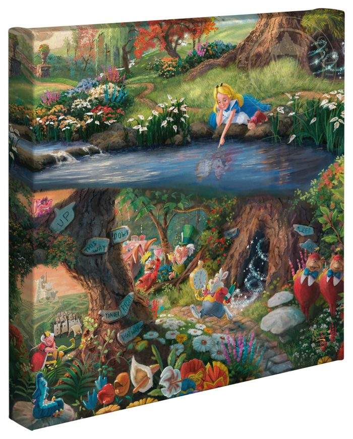 "Alice in Wonderland – 14"" x 14"" Gallery Wrapped Canvas"