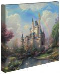 New Day at the Cinderella Castle, A – 14″ x 14″ Gallery Wrapped Canvas