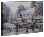 Christmas At Millers Cottage – 10″ x 14″ Gallery Wrapped Canvas