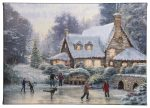 """Christmas At Millers Cottage - 10"""" x 14"""" Gallery Wrapped Canvas"""