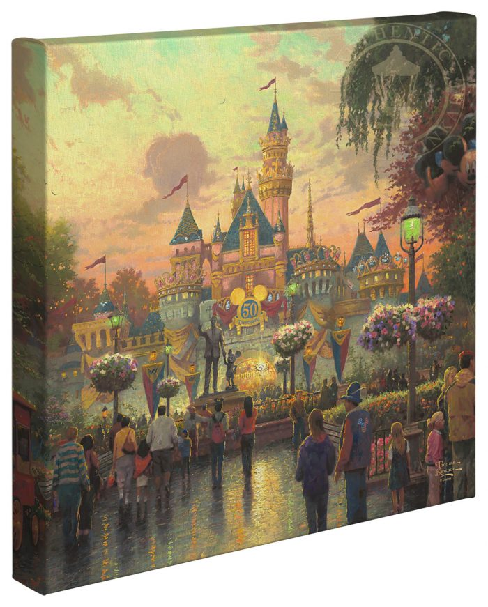 Disneyland, 50th Anniversary – 14″ x 14″ Gallery Wrapped Canvas