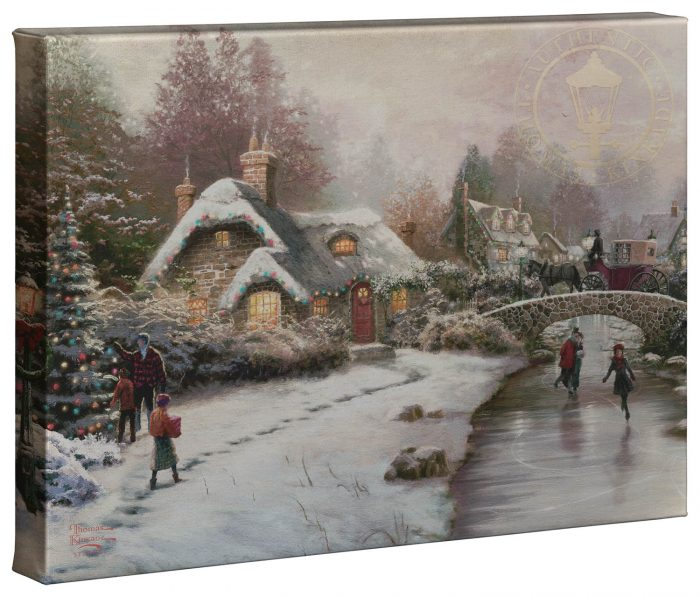 Holiday At Everetts Cottage – 10″ x 14″ Gallery Wrapped Canvas