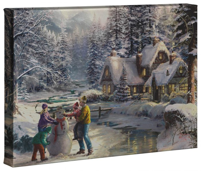 Holiday At Winters Glen – 10″ x 14″ Gallery Wrapped Canvas