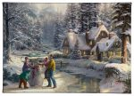 "Holiday At Winters Glen - 10"" x 14"" Gallery Wrapped Canvas"