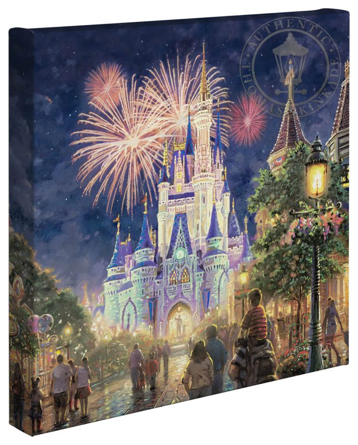 Main Street, U.S.A.® Walt Disney World® Resort – 14″ x 14″ Gallery Wrapped Canvas