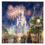 "Main Street, U.S.A.® Walt Disney World® Resort - 14"" x 14"" Gallery Wrapped Canvas"