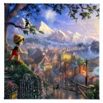 "Pinocchio Wishes Upon A Star - 14"" x 14"" Gallery Wrapped Canvas"