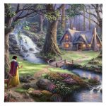 "Snow White Discovers the Cottage - 14"" x 14"" Gallery Wrapped Canvas"